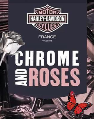 Chrome & Roses Harley Davidson